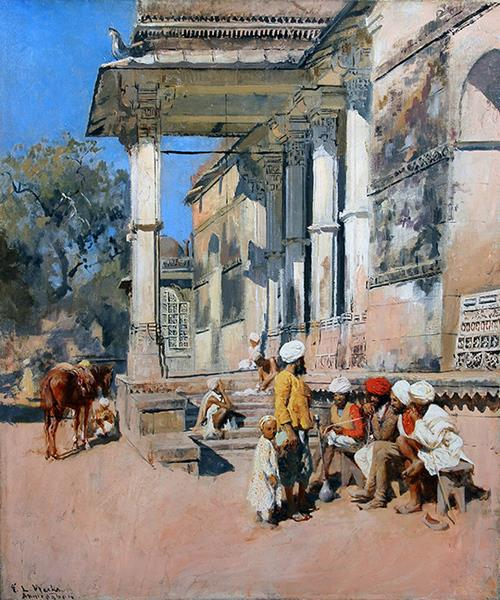 A Portico in Ahmedabad, India - Edwin Lord Weeks