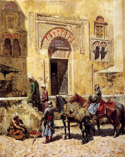 Entering The Mosque, c.1885 - Edwin Lord Weeks