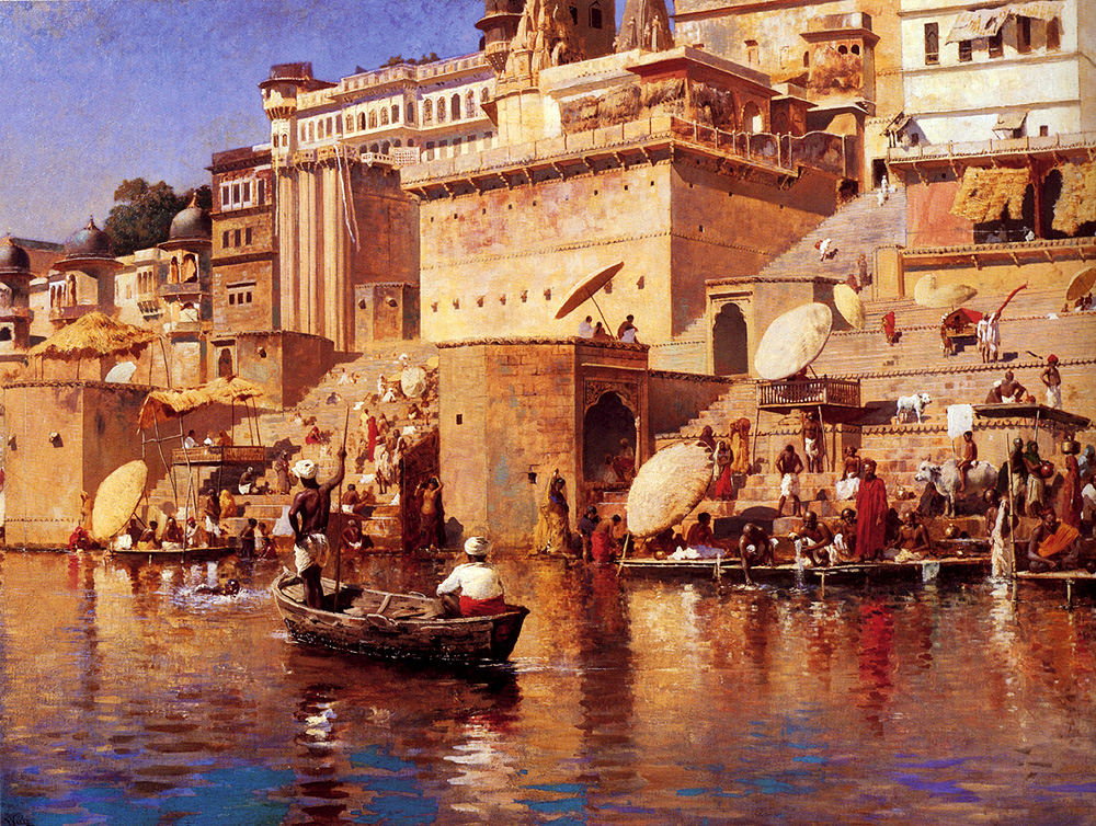 On The River Benares C 1883 Edwin Lord Weeks Wikiart Org