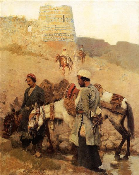 Traveling in Persia, c.1895 - Edwin Lord Weeks