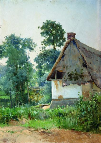 Landscape with an Abandoned House, 1897 - Efim Volkov