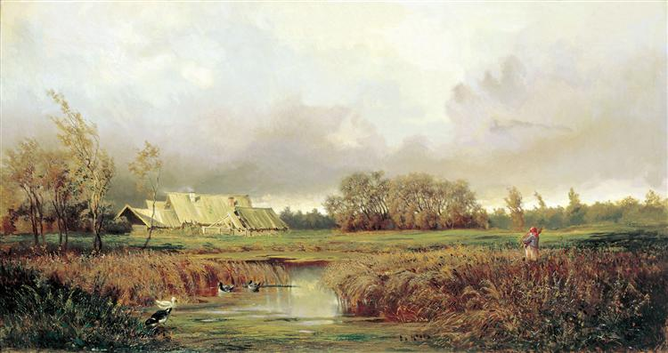Marsh in Autumn, 1871 - Efim Volkov