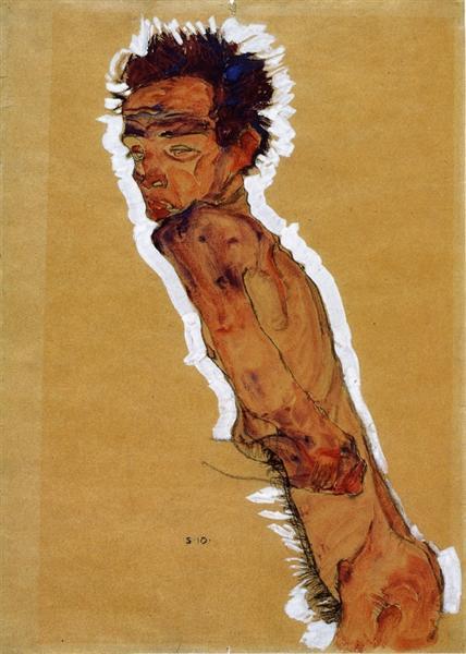 Self Portrait Nude, 1910 - Egon Schiele