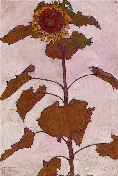 Sunflower, 1909 - Egon Schiele