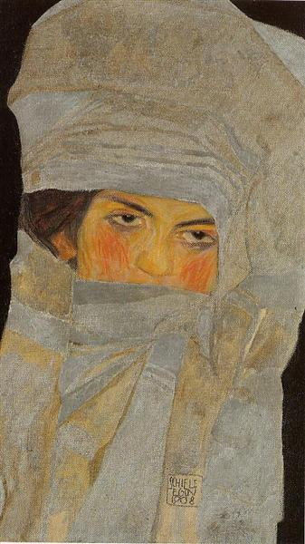 The Artist's Sister, Melanie, 1908 - Egon Schiele