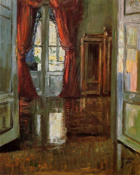 View into the Apartment of Leopold and Marie Czihaczek, 1907 - Egon Schiele