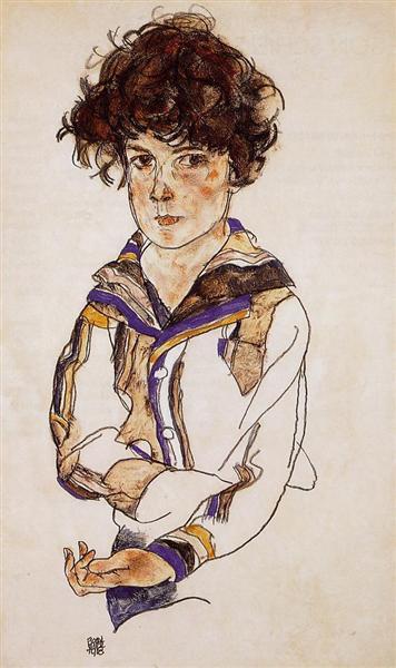 Young Boy, 1918 - Egon Schiele