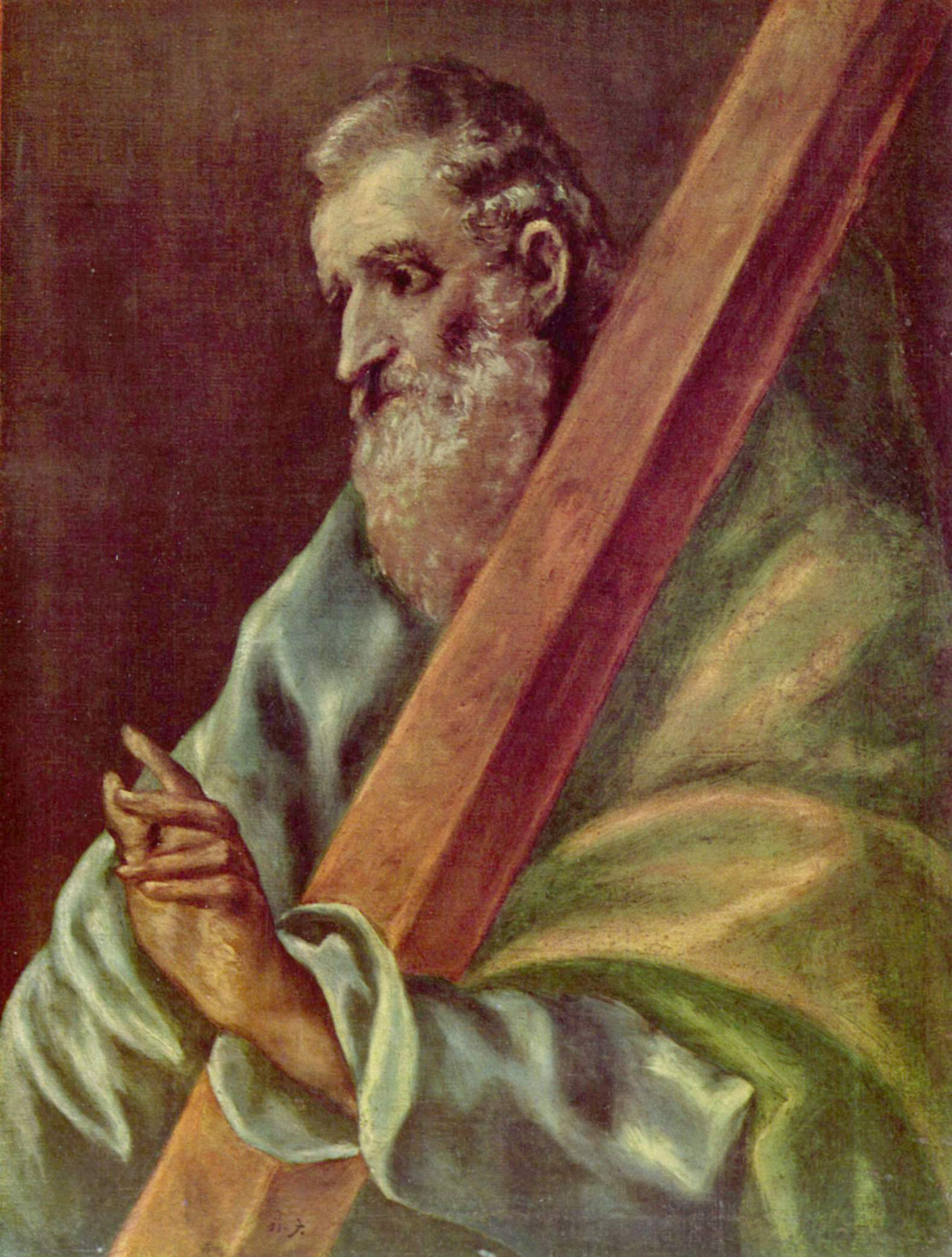 Apostle St. Andrew, c.1610 - El Greco - WikiArt.org