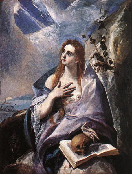 Mary Magdalene in Penitence, c.1577 - El Greco