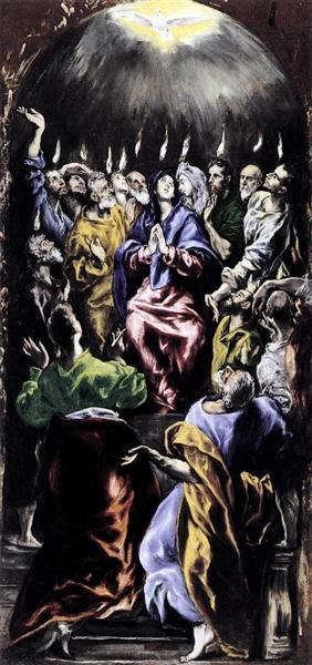 Pentecost, c.1596 - El Greco