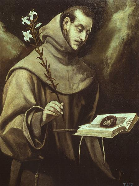 Св. Антоний падуанский, c.1577 - Эль Греко