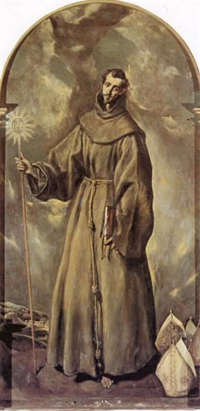 Св. Бернардин Сиенский, 1604 - Эль Греко