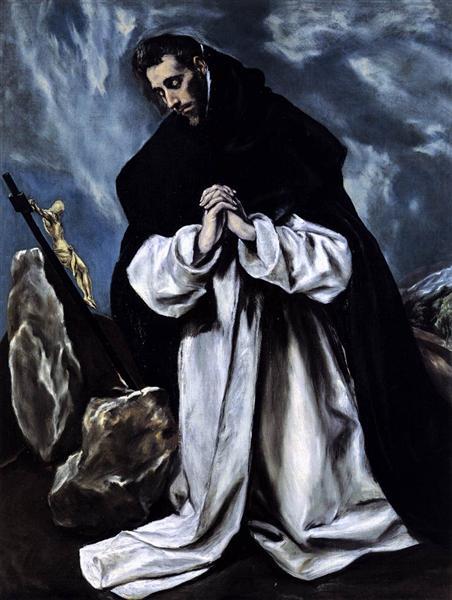 St. Dominic praying, c.1588 - El Greco
