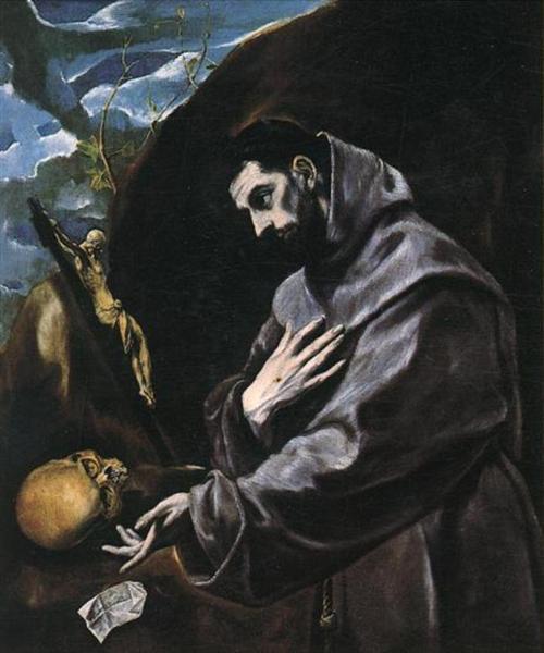 St. Francis praying, c.1585 - El Greco