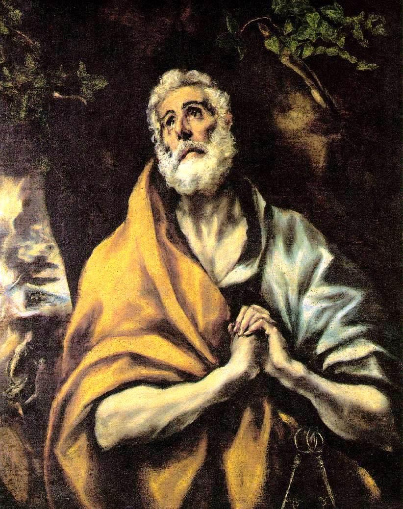 El Greco - Dominikos Theotokopulos - Page 2 The-repentant-peter