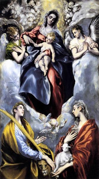 The Virgin and Child with St. Martina and St. Agnes, 1597 - 1599 - El Greco