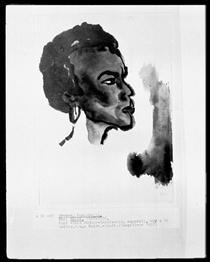 Portrait of South Sea Islander - Emil Nolde