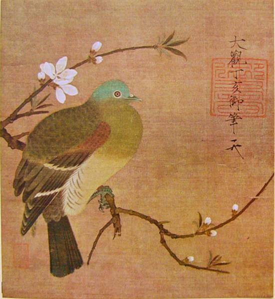 Pigeon on a Peach Branch, 1108 - Song Huizong