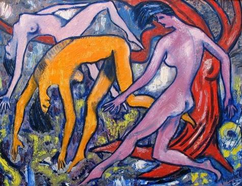 Naked women's dance, 1973 - Endre Bartos