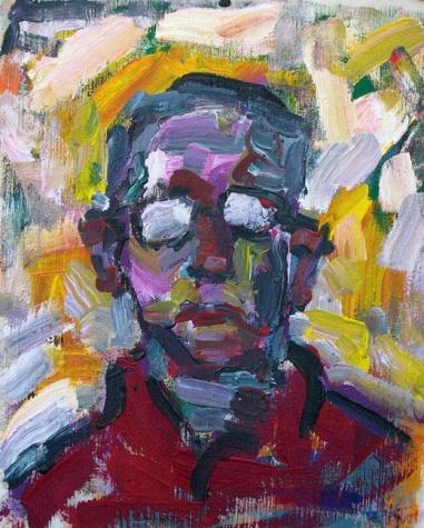 The painter's friend, P.Józsi, 2005 - Endre Bartos