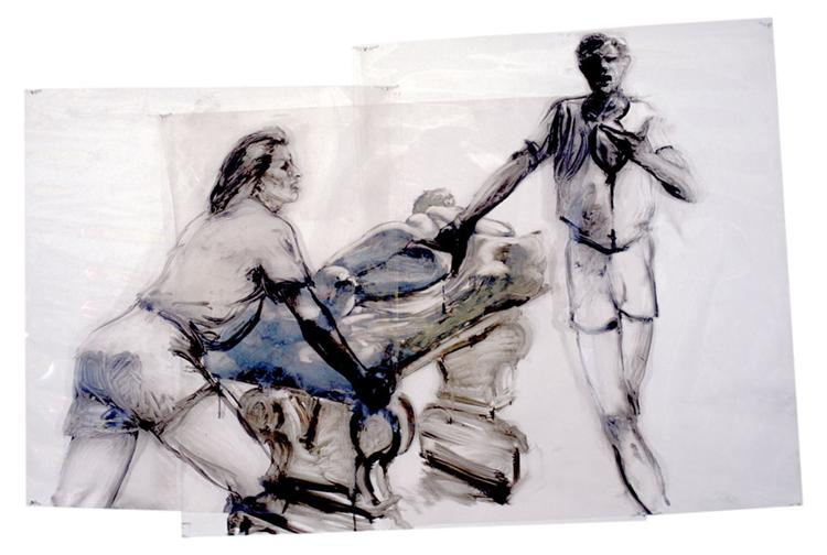 Study for Sheer Weight of History - Eric Fischl