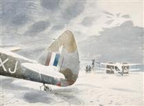 De-icing Aircraft - Eric Ravilious