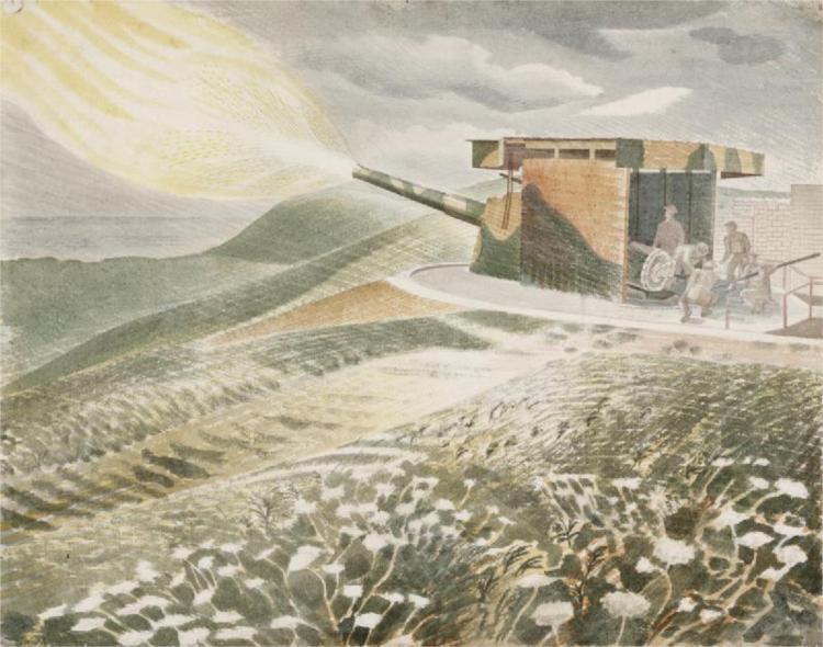 Firing a 9.2 Gun, 1941 - Эрик Равилиус