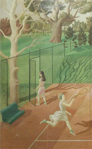 Tennis (triptych, left wing), 1930 - Ерік Равіліус