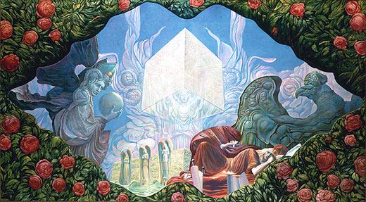 THE DIVINE JERUSALEM, 1995 - Ernst Fuchs