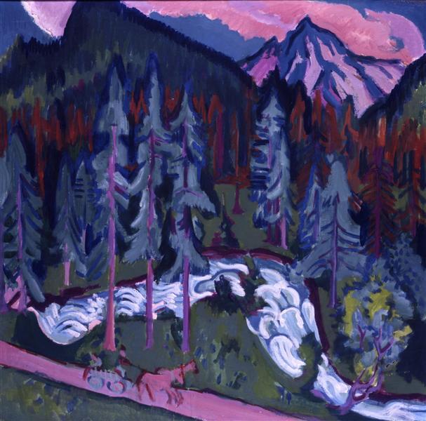 Sertigweg, 1924 - 1926 - Ernst Ludwig Kirchner