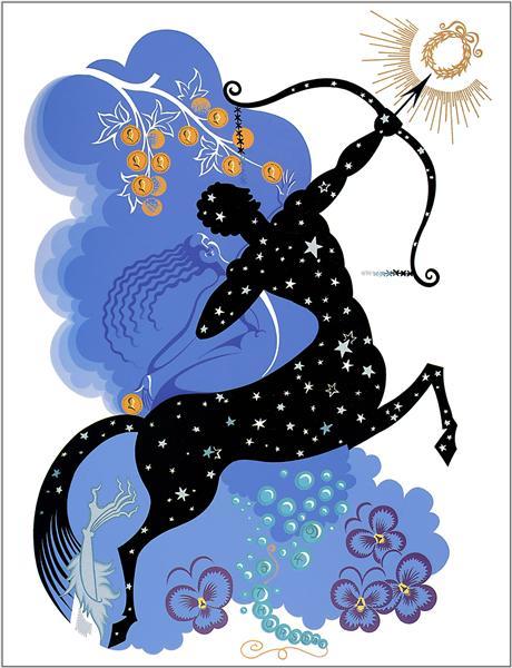 The Zodiac, Sagittarius - Erte