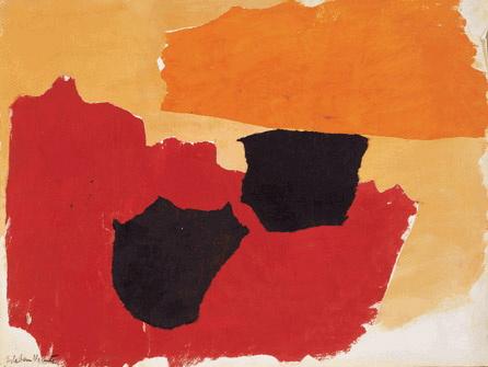 Orange, Red, Black, 1962 - Esteban Vicente