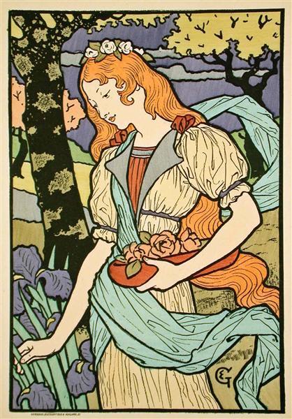 Grafton Gallery, from Les Affiche Illustrees, 1897 - Eugène Grasset