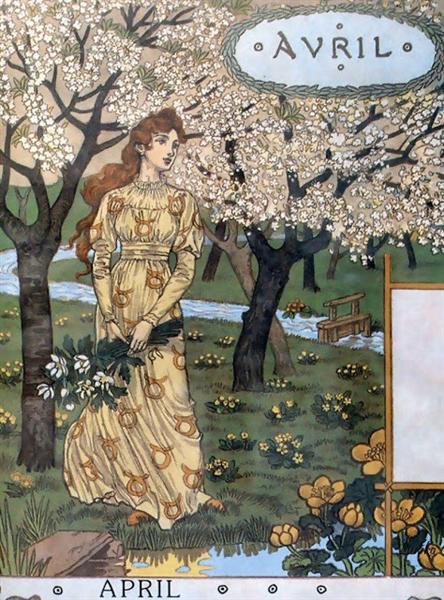 La Belle Jardiniere – April, 1896 - Eugène Grasset
