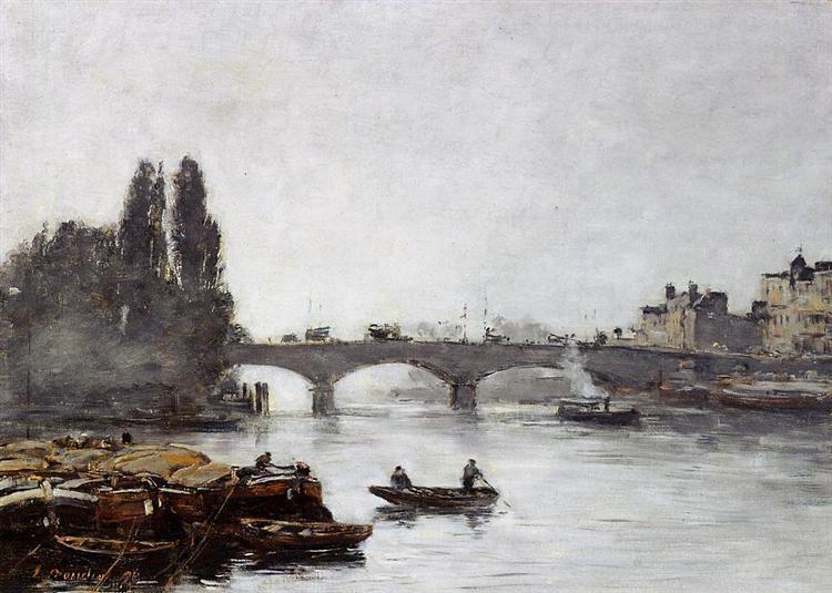 Rouen, the Pont Corneille, Fog Effect, 1896 - Eugene Boudin