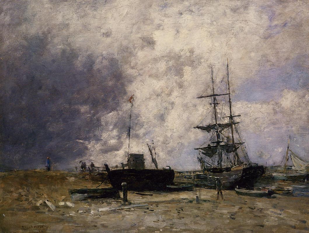 The Trouville Coastline, Low tide, 1883