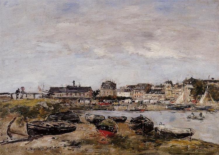 View of the Port, Trouville, 1896 - Eugene Boudin