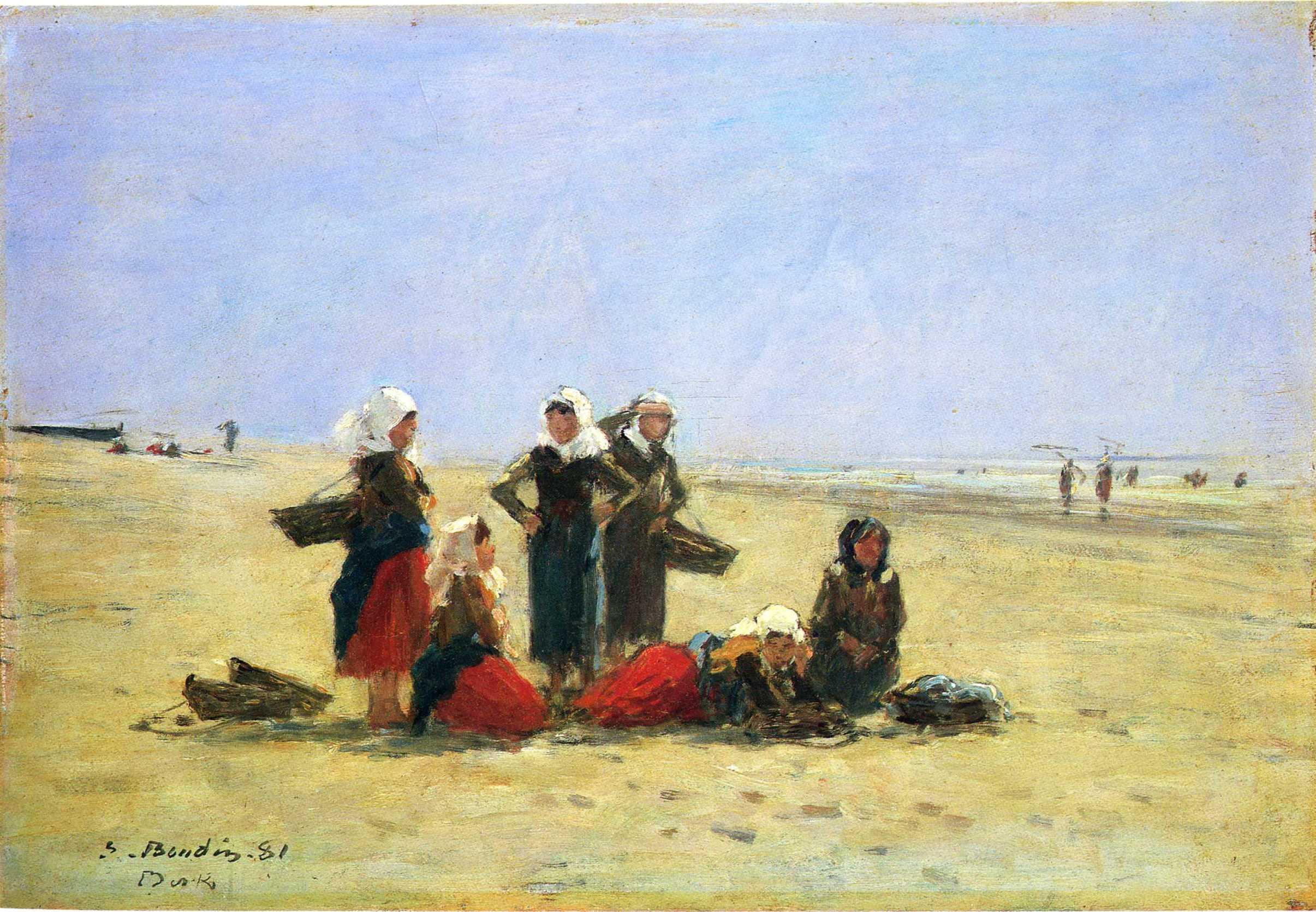 Women on the Beach at Berck, 1881