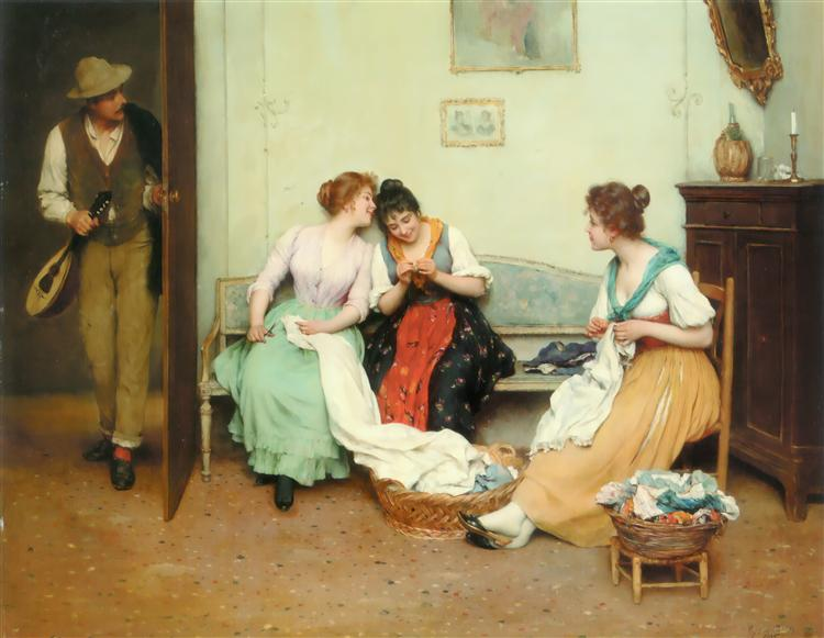 The Friendly Gossips, 1901 - Eugene de Blaas