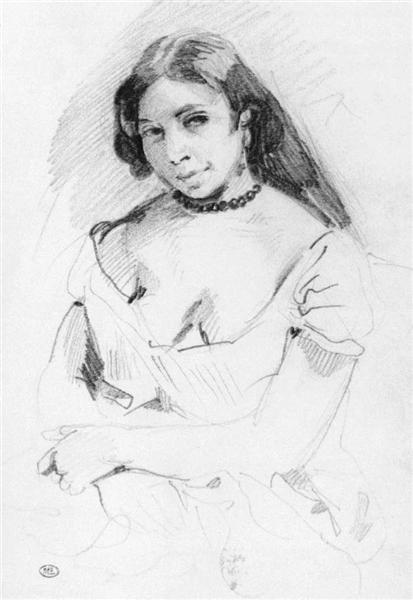Aspasia - Eugene Delacroix