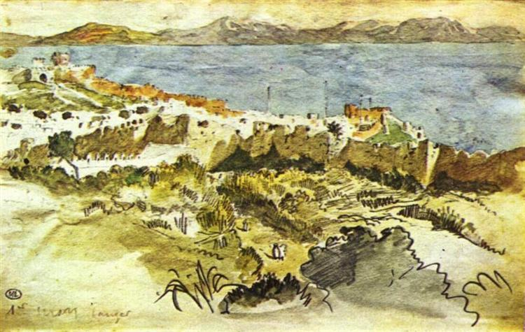 Bay of Tangier in Morocco - Eugene Delacroix
