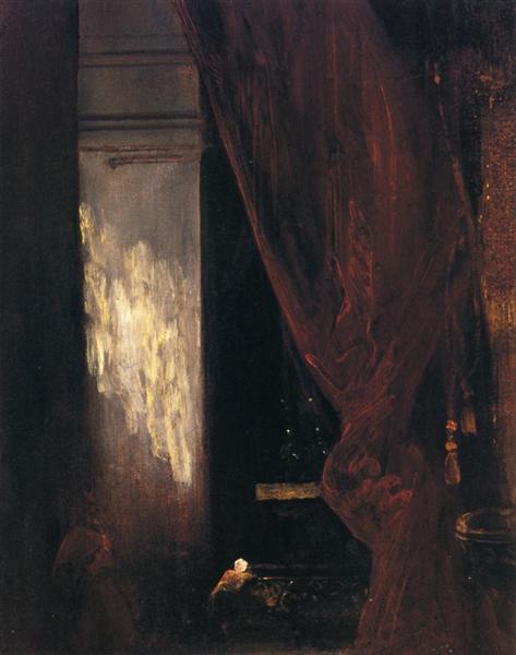 Interior of a Chapel, 1829 - Eugene Delacroix