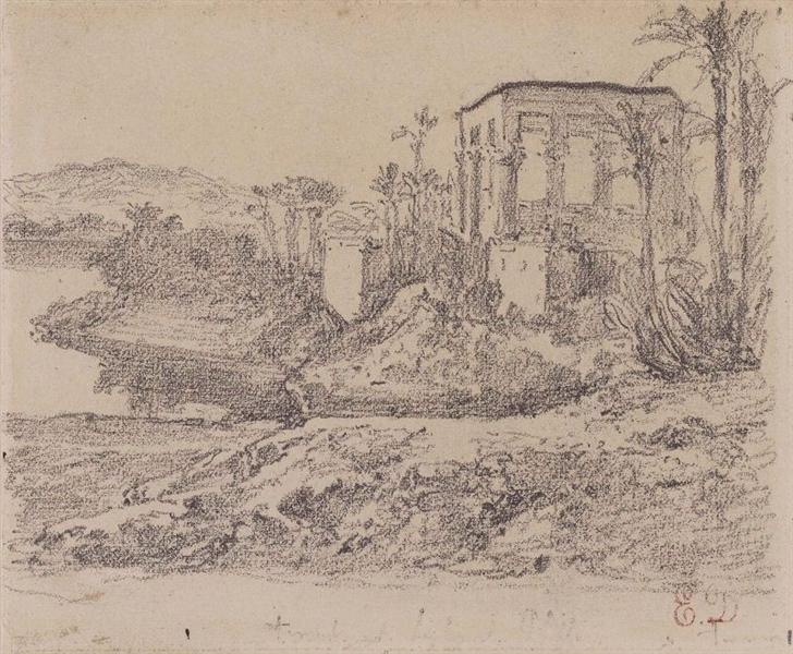 Kiosk of Trajan at Philae - Eugène Delacroix