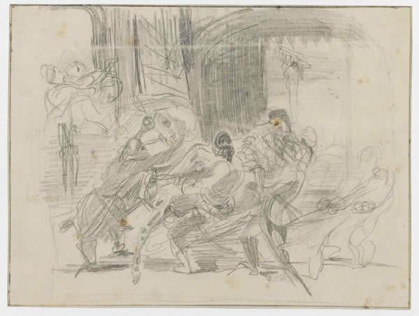 Mazeppa Tied Behind Him on a Wild Horse, 1838 - Eugene Delacroix