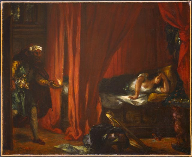 Othello and Desdemona, 1847 - 1849 - Eugene Delacroix
