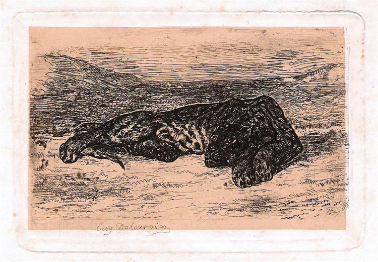 Panther - Eugene Delacroix