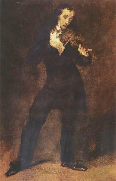 Portrait of Paganini, 1832 - Eugene Delacroix