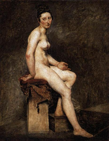 Seated Nude, Mademoiselle Rose, 1820 - 1824 - Eugene Delacroix