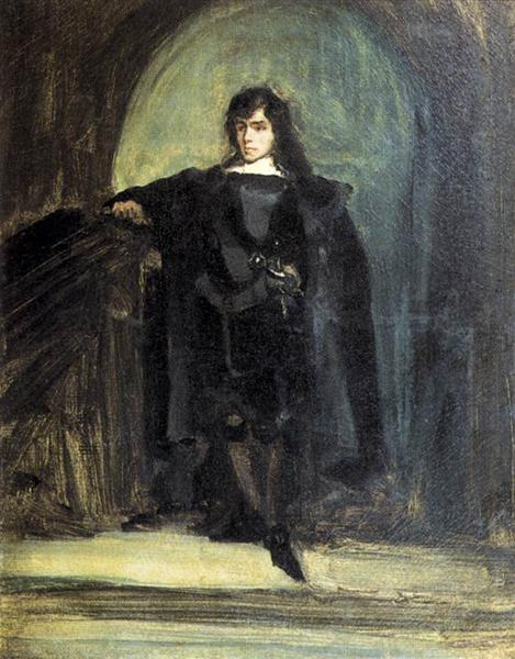 Self Portrait as Hamlet, 1821 - Eugene Delacroix