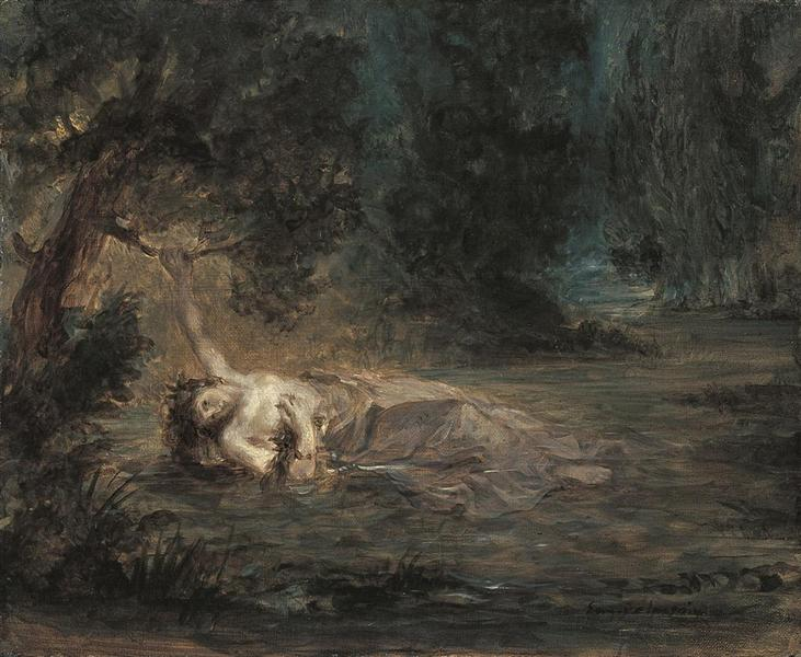 The Death of Ophelia, 1838 - Eugene Delacroix